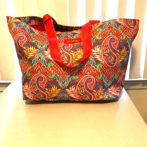 Vera Bradley Paisley In Paradise Canvas Tote Bag